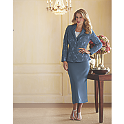pashka lace and crepe suit