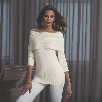 Nadia Luxe Cowlneck Sweater