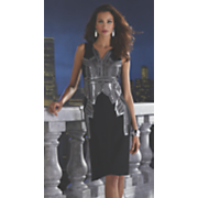 Annika Silver Embellished Sheath
