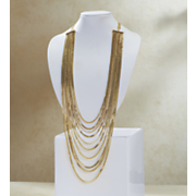 long multi strand necklace