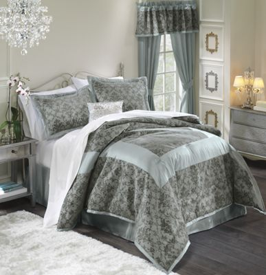 Filigree Flocked Bedding & Window Treatments