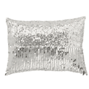 Filigree Flocked Decorative Pillow