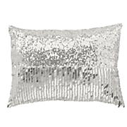 filigree flocked decorative pillow