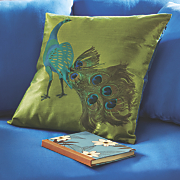 chic peacock pillow
