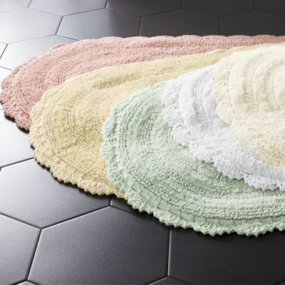 Crochet Border Bath Mat