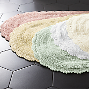 crochet border bath mat 29