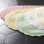 crochet border bath mat 29