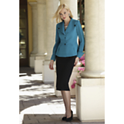 knit suit with tuxedo peplum 44