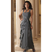 nicoletta satin and chiffon layer gown 2014