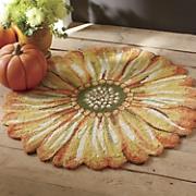 indoor outdoor sunflower mat