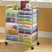 wide drawer storage cart