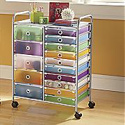 wide drawer storage cart