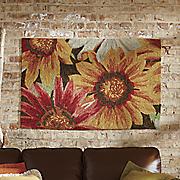 hand hooked floral indoor outdoor rug