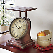 old fashioned scale clock