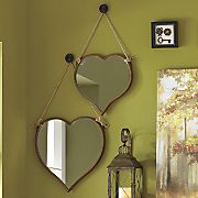 Set of 2 Heart Mirrors