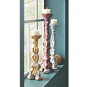 set of 3 baroque candlesticks