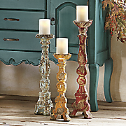set of 3 baroque candlesticks