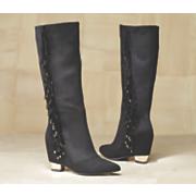 Midnight Velvet Fringe & Stones Boot