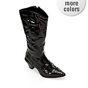midnight velvet sequin cowgirl boot