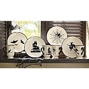 4 pc halloween plate set