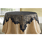 spiders bats table topper