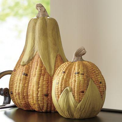 Set of 2 Corn-Gourds