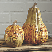 set of 2 corn gourds