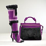 anya fur bag and boot