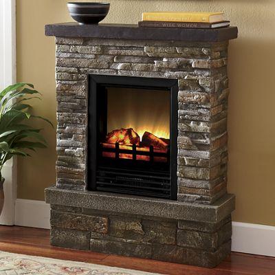 Rustic Retreat Electric Fireplace