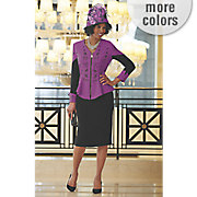 leanne hat and mona skirt suit