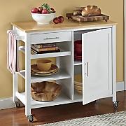 Butcher Block Storage Cabinet by Montgomery Ward®