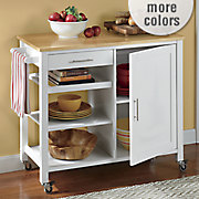 butcher block storage cabinet by montgomery ward