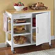 butcher block storage cabinet by montgomery ward