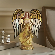Angel Stained Glass Lamp