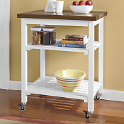 solid wood top kitchen cart by montgomery ward