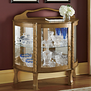 Antique-Style Lighted Curio Cabinet