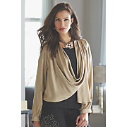 shimmer charmeuse jacket