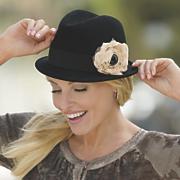 san diego hat co felt fedora with chiffon floral