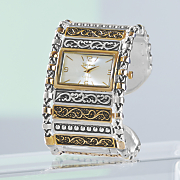 Two-Tone Scrolled Watch