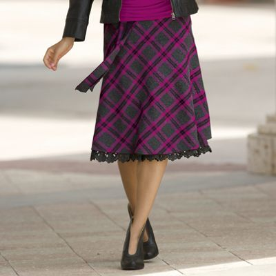 Flatter Me Plaid Skirt