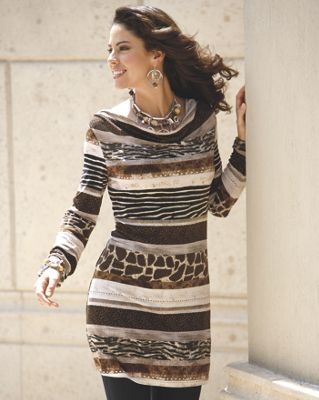 Animal Banded Tunic
