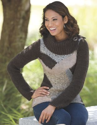 Intarsia Front Sweater