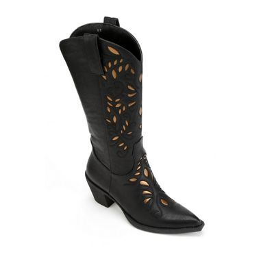 Gold Underlay Cowgirl Boot by Monroe & Main