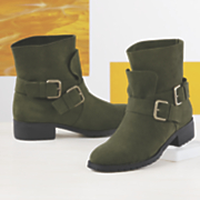 Monroe and Main Double Buckle Flap Bootie