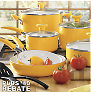 12 pc ceramic cookware set with 20 rebate by silverstone