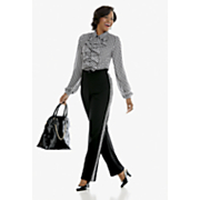 Ginger Houndstooth Blouse and Pant