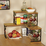 2 tier apple corner shelf