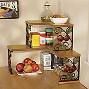 2 tier apple corner shelf