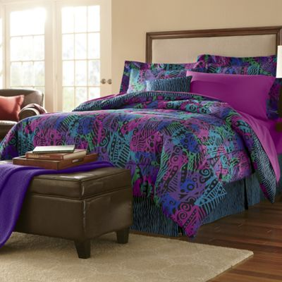 Mali, Dots It or Gabby 4-Piece Comforter Set, Decorative Pillow and Window Treatments