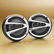 naxa set of two 6 5 round car stereo speakers
